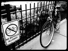 locked bycicle