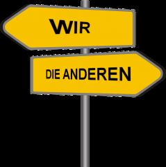 """Bild 2: Die Unterteilung in """"Wir"""" und """"Die Anderen"""" kann ausreichen, um eine Bevorzugung der Eigengruppe hervorzurufen"""