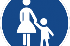 Dieses Schild kennzeichnet eine Fußgängerzone in Deutschland. Dargestellt sind eine Frau und ein Kind. Bild: CopyrightFreePictures via Pixabay (https://pixabay.com/en/traffic-sign-road-sign-shield-6641/, CC:  https://pixabay.com/de/service/license/).