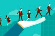 Frauen und Männer auf dem Weg in Führungspositionen (  bastamanography via flickr (https://www.flickr.com/photos/bastamanography/26727590237/, CC: https://creativecommons.org/licenses/by-nc-sa/2.0/)