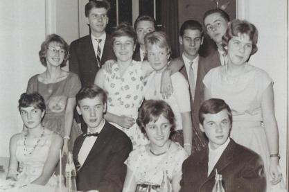 Tanzstunden in den 1950er. Foto: Private Aufnahme. Eigentum des Autors.